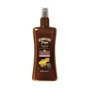 Водостойкое сухое масло для загара Hawaiian Tropic Protective SPF 15 200 мл