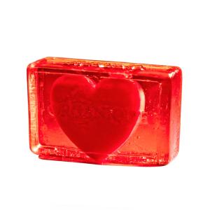 Глицериновое мыло куб Organique Сердце в прозрачном 100 г