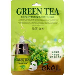 Тканевая маска Ekel с экстрактом зеленого чая для жирной и комбинированной кожи 25 мл