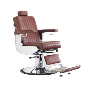 Кресло для барбера Comair Diplomat 7001133 на гидравлическом подъемнике коричневое
