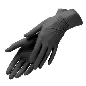 Перчатки нитриловые Astra S без пудры черные 100 шт