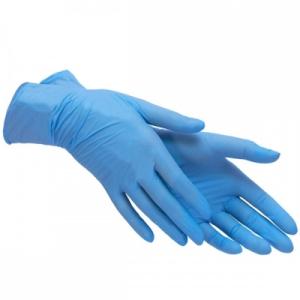 Перчатки нитриловые Astra S без пудры 100 шт синие