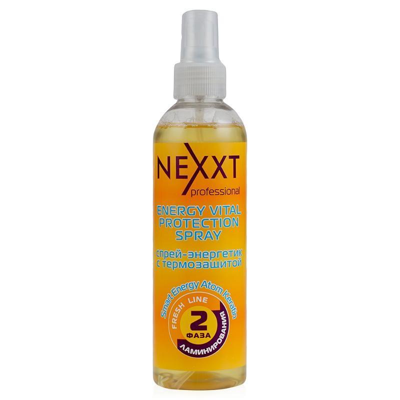 Спрей-энергетик Nexxt Professional с термозащитой 2 фаза ламинирования 250 мл