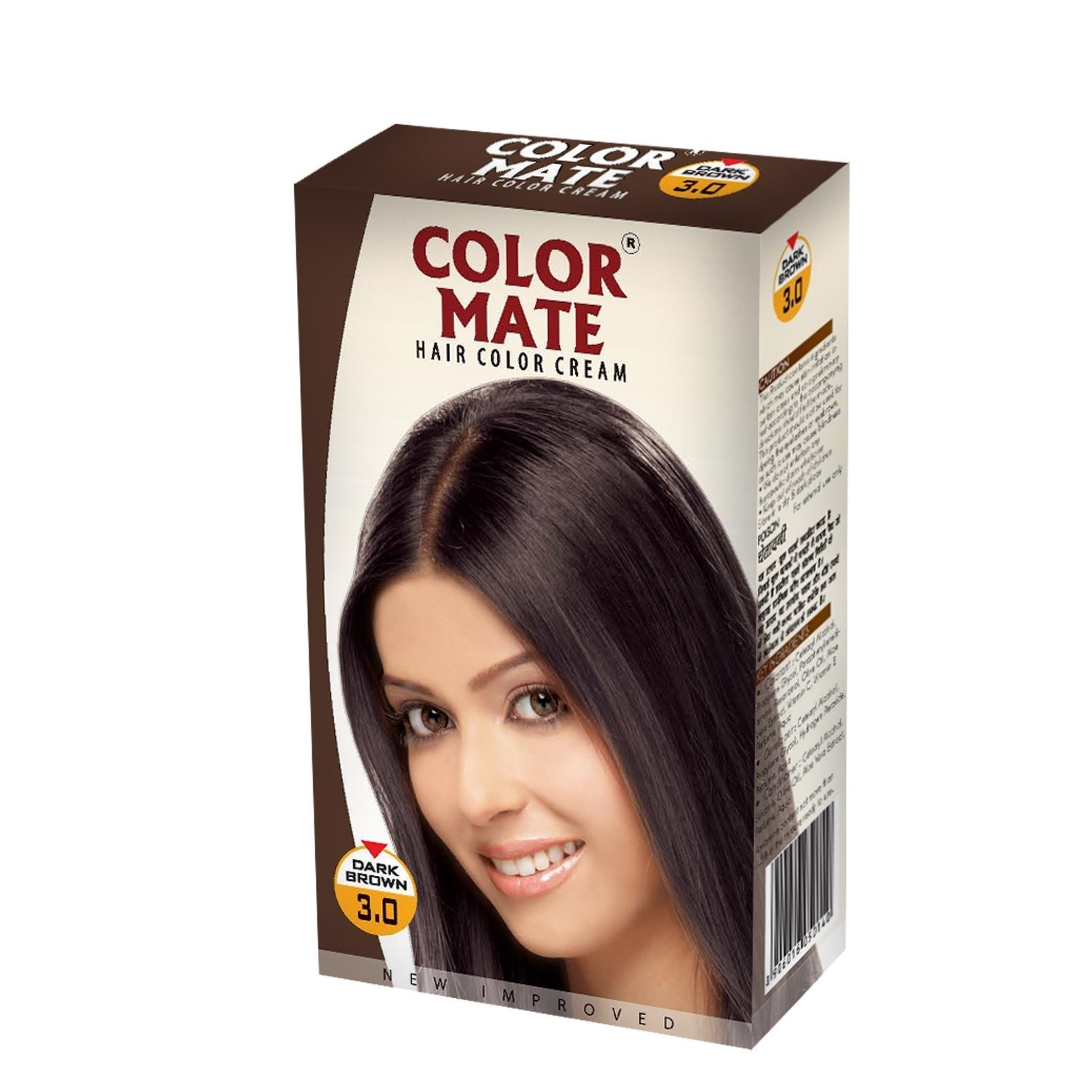 Крем-краска Color Mate Hair Dark Brown 130 мл