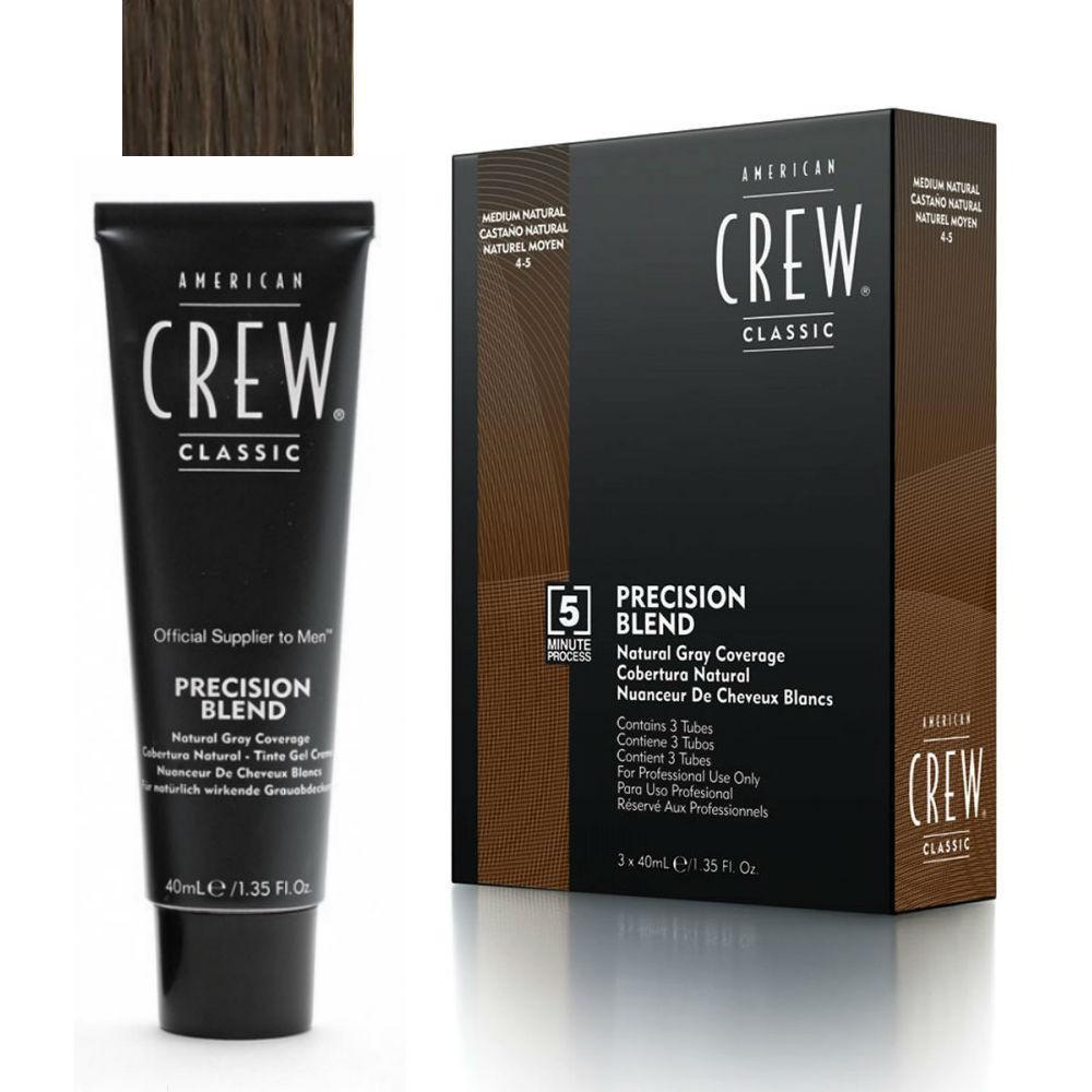 Система маскировки седины American Crew Precision Blend Medium уровень 4-5 3 х 40 мл