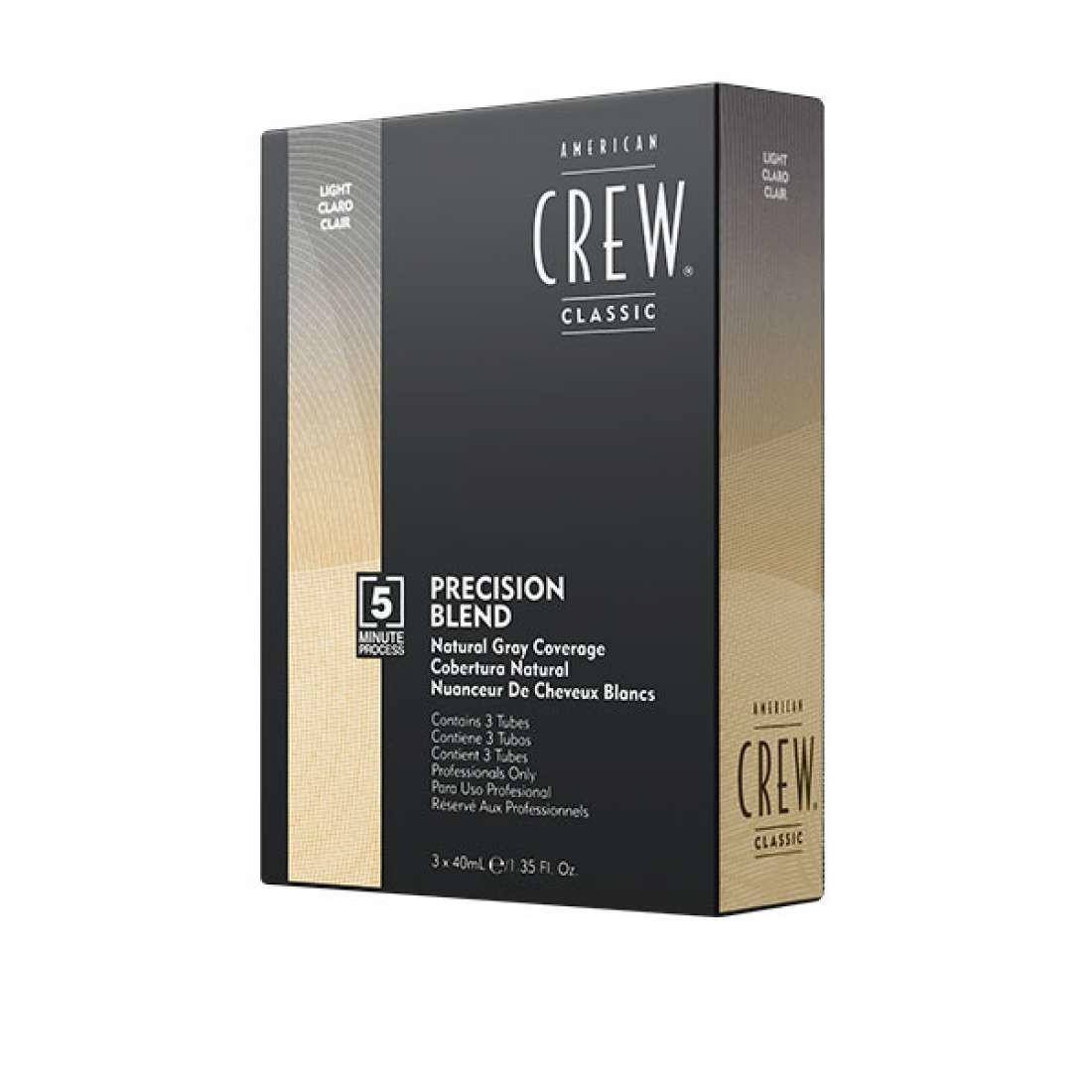 Система маскировки седины American Crew Precision Blend Light уровень 7-8 3 х 40 мл