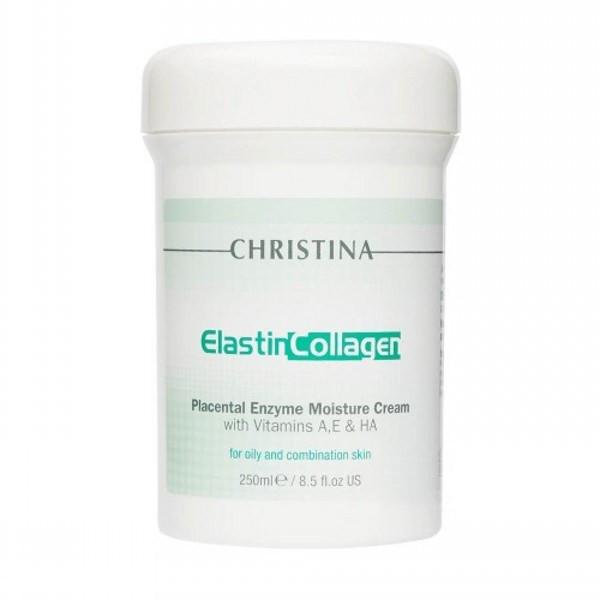 Крем Christina Elastin Collagen Placental Enzyme Moisture Cream эластин коллаген с плацентой 250 мл