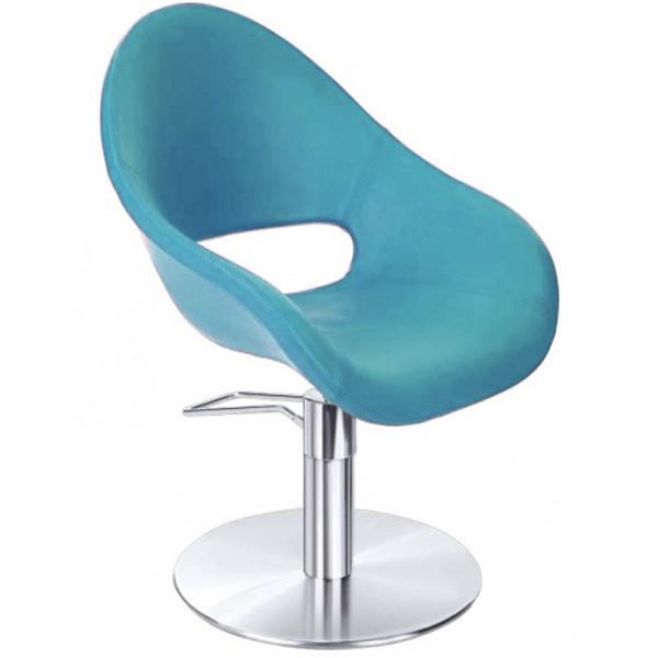 Кресло парикмахерское Ceriotti Cherie на гидравлической помпе бирюзовое