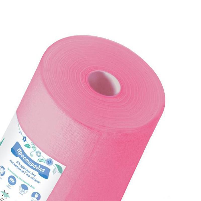 Одноразовые простыни K.tex розовые 0,6 х 100 м