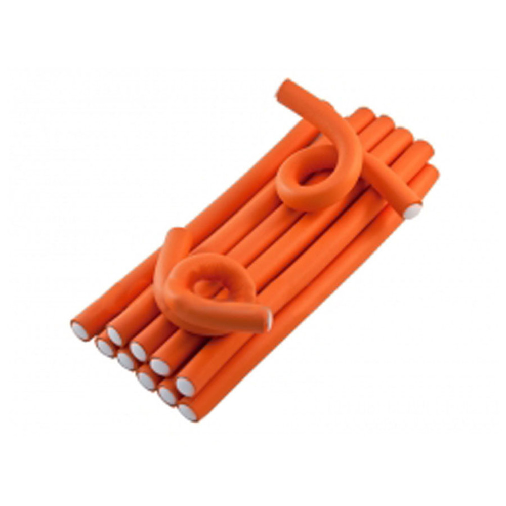 Гибкие бигуди Hairway 041171 оранжевые 17 мм 12 шт